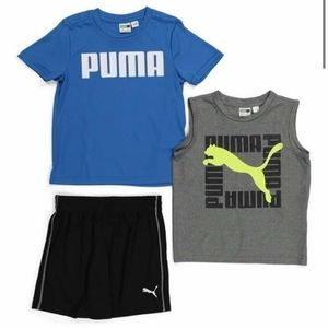 Puma performance little boy shorts set